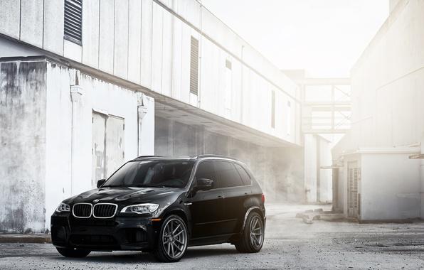 Картинка чёрный, бмв, BMW, black, блик, кроссовер, X5M