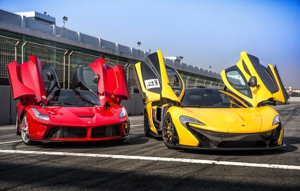 Картинка McLaren, Ferrari, феррари, GTB, макларен, 2015, 488, 675LT
