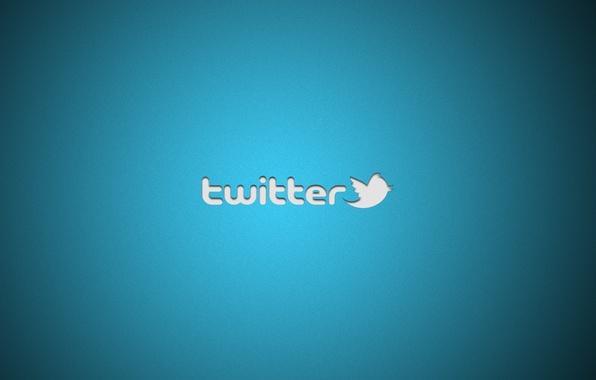 Картинка минимализм, лого, logo, minimalism, 1920x1200, бренд, twitter, brand, social network, социальная сети