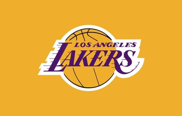 Фото обои logo, баскетбол, los angeles lakers