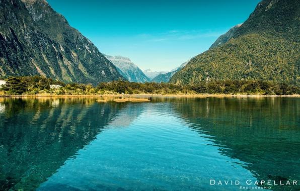 Картинка пейзаж, горы, природа, озеро, New Zealand, David Capellari