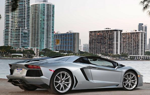 Картинка авто, ламбо, суперкар, родстер, roadster, LP700-4, Lamborghini Aventador
