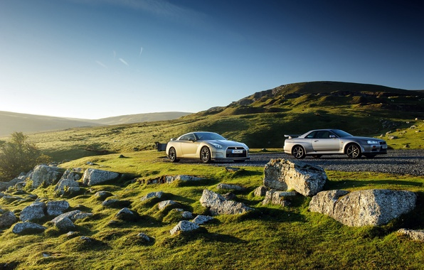 Картинка Nissan, GT-R, ниссан, R35, UK-spec, 2015, 45th Anniversary