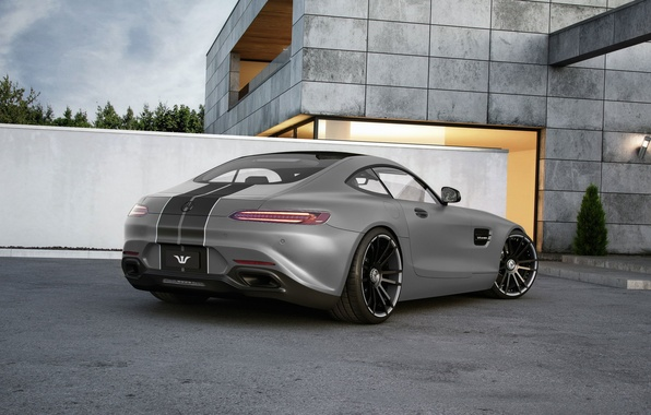 Картинка Mercedes-Benz, AMG, Wheelsandmore, Grey, Rear, Tuned, 600HP