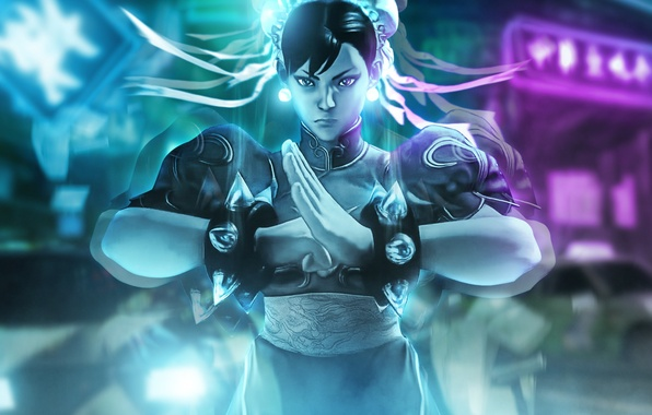 Картинка девушка, арт, боец, Street Fighter V, Chun li