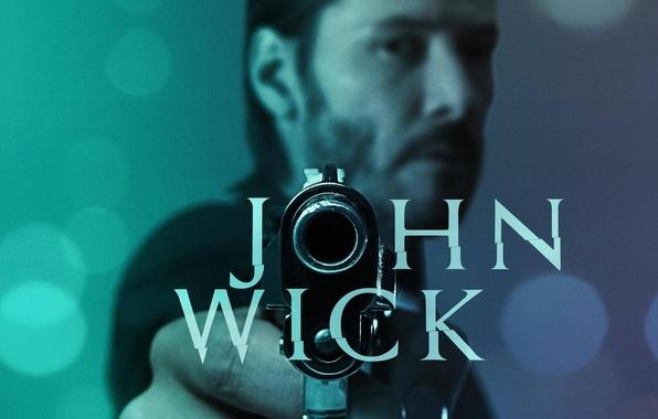 Картинка cinema, gun, pistol, hitman, actor, weapon, man, movie, assassin, film, Keanu Reeves, mustache, dangerous, beard, …