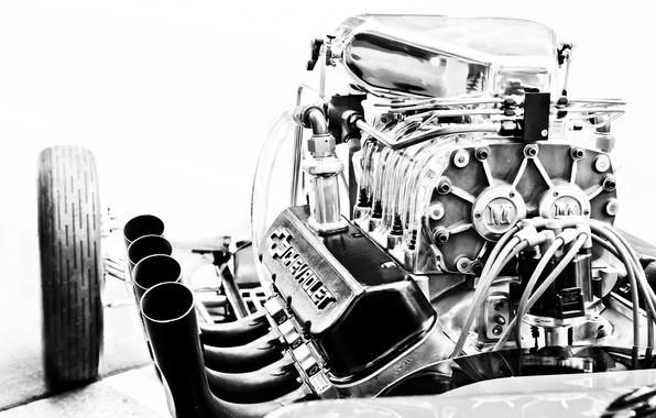 Картинка двигатель, Corvette, Chevrolet, движок, мотор