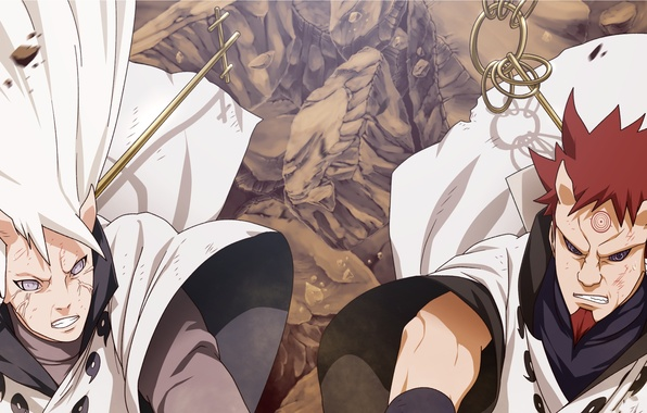Картинка naruto, brothers, manga, hamura, hagoromo, ootsutsuki clan, carl1tos