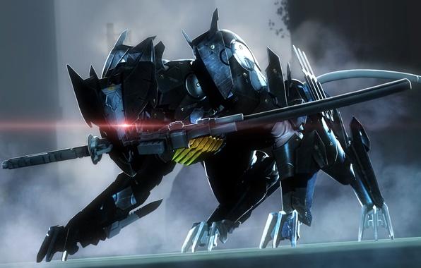 Фото обои Blade Wolf, sword, LQ-84i, Metal Gear Rising:Revengeance, Armor Breaker, Maverick, DLC
