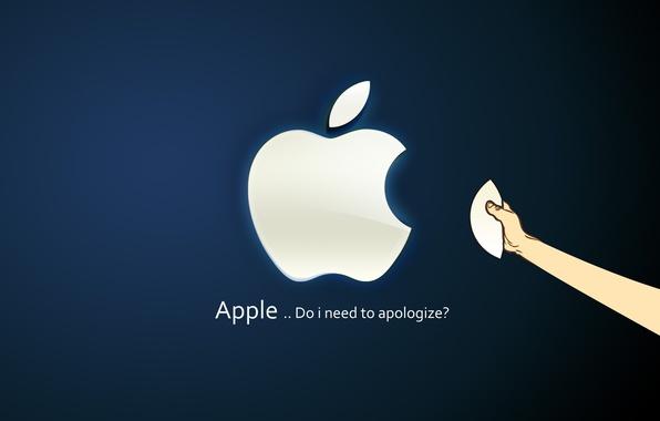 Картинка синий, apple, mac os, ренд