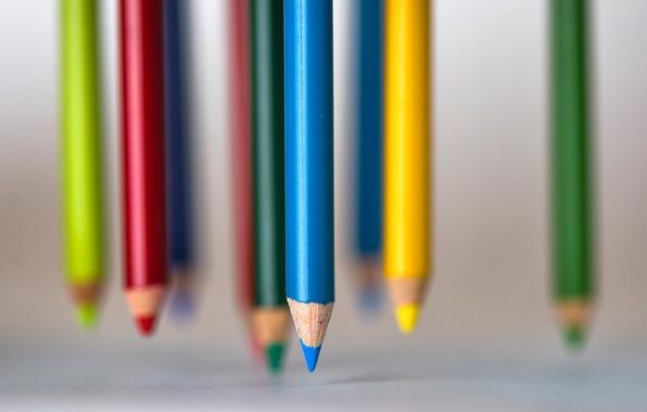 Картинка цвет, карандаши, форма