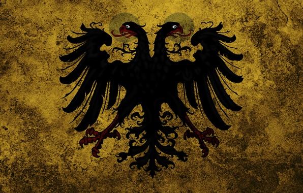 Картинка обои, флаг, орёл, Россия, герб, Российская Империя