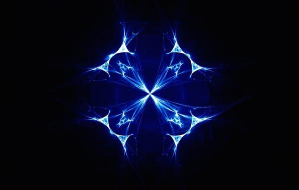 Картинка свет, линии, узор, цвет, фрактал, полумрак, симметрия
