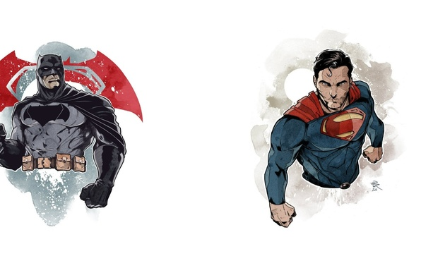 Картинка batman, superman, Clark Kent, Bruce Wayne, batman vs superman