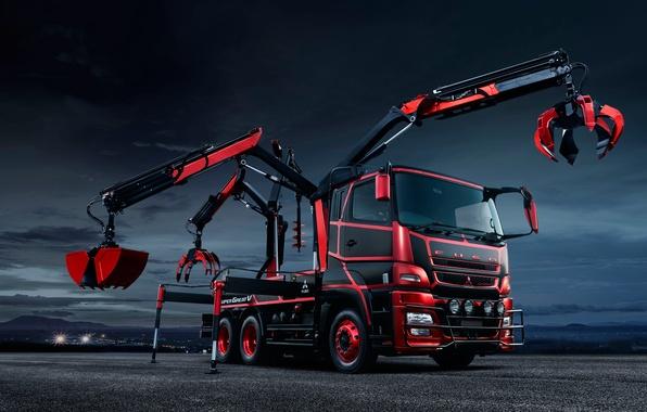 Картинка Concept, грузовик, Mitsubishi, Fuso, спецтехника