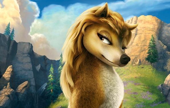 Картинка лес, волк, Кейт, Мультфильм, Альфа и Омега