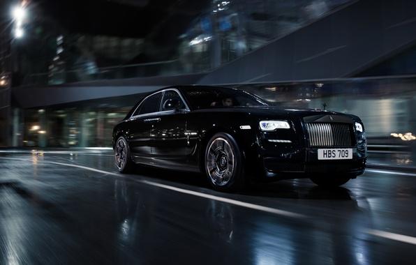 Обои черный, Rolls-Royce, Black, Coupe, роллс-ройс, Wraith ...