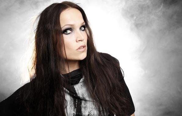 Фото обои nightwish, взгляд, певица, Tarja Turunen, девушка
