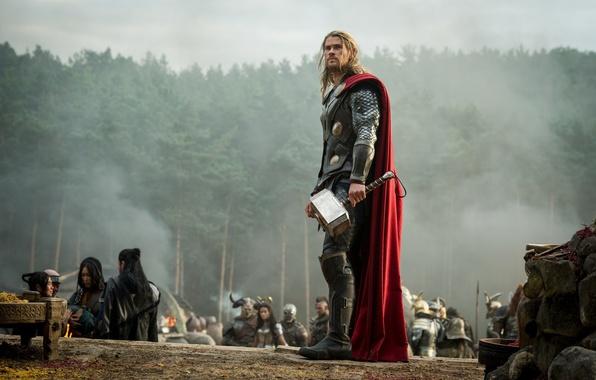 Картинка Marvel, Фильмы, Thor, Тор, Крис Хемсворт, Chris Hemsworth, Марвел, бог грома, асгардец, Thor 2, Тор …