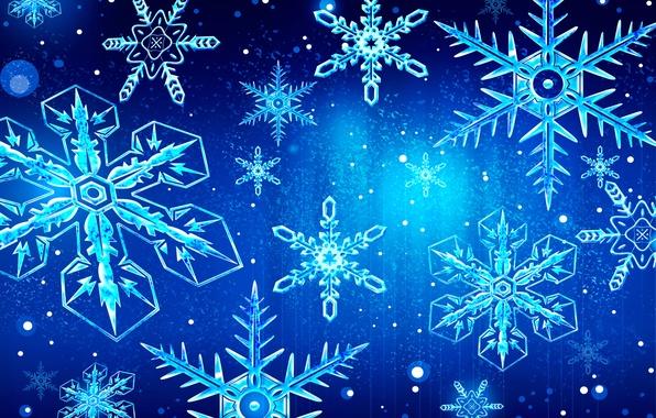 Картинка зима, праздник, узор, вектор, снежинка