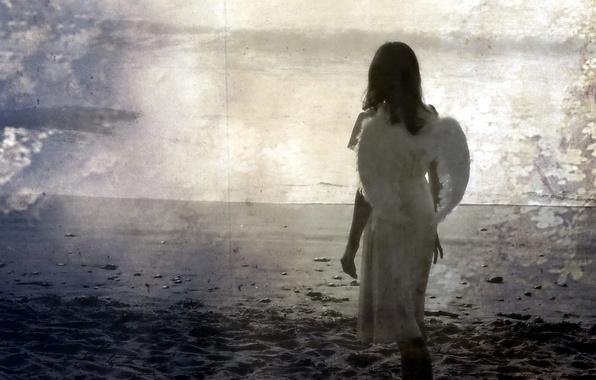 Картинка девушка, стиль, фон, настроение, ангел