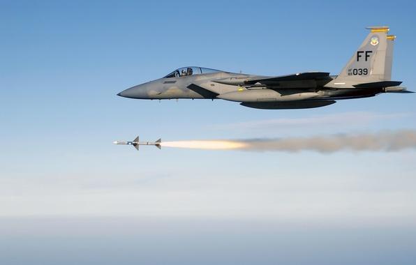Картинка ракета, запуск, F-15