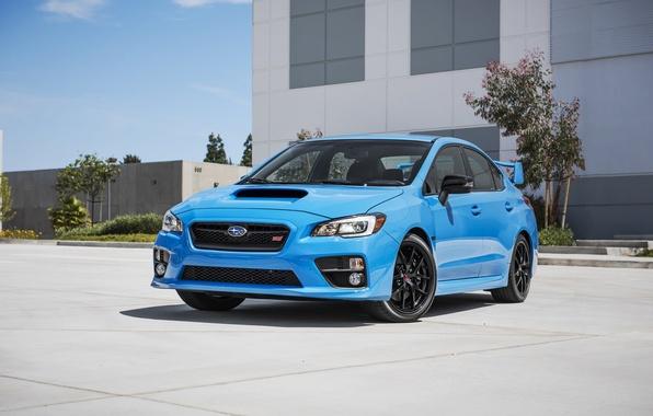 Картинка Subaru, WRX, Blue, STI, субару