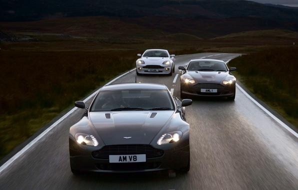 Картинка Дорога, Движение, Aston Martin V8