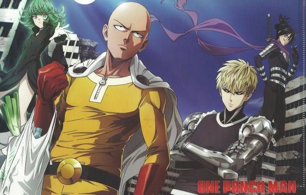Картинка аниме, art, sonic, Saitama, OnePunch-Man, Genos, Tornado of Terror, Tatsumaki, Caped Baldy, one punch man, …