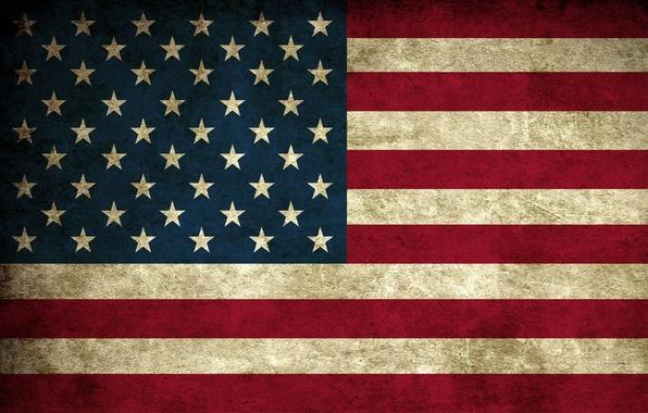 Фото обои Флаг, США
