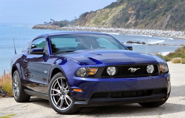 Картинка Mustang, Ford, Авто, Машина, Форд, Обои, Мустанг, Ford Mustang, Auto, Wallpapers, about the sea