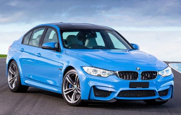 Картинка Цвет, BMW, Машина, БМВ, Голубой, Car, Автомобиль, Blue, 2014, F80