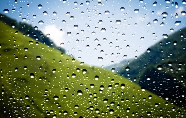 Картинка Rain, Window, Drops, Makro