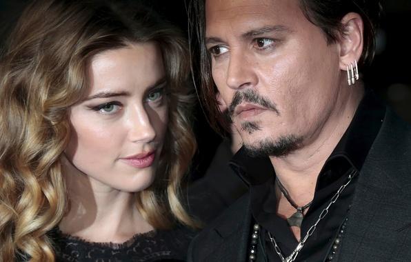 Картинка Johnny Depp, Amber Heard, Эмбер Хёрд Депп, супруги