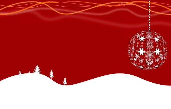 Картинка вектор, шарик, Новый Год, Рождество, снежинка, открытка