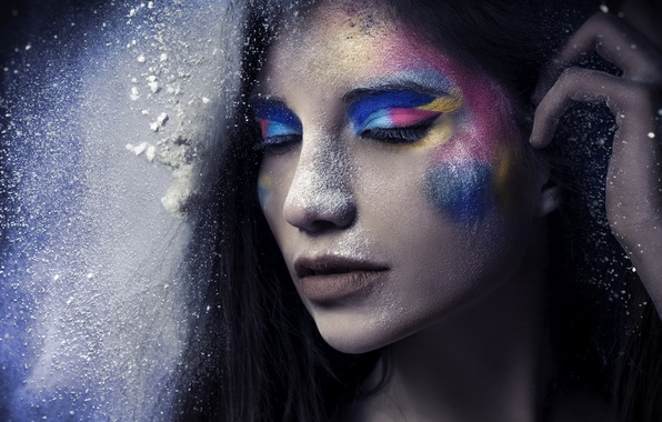Картинка девушка, стиль, макияж