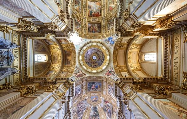 Картинка Рим, Италия, церковь, базилика, барокко, Сант-Андреа-делла-Валле