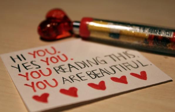 Картинка макро, любовь, лист, бумага, надпись, сердце, ручка, love, тетрадь, признание, строчка, чувство