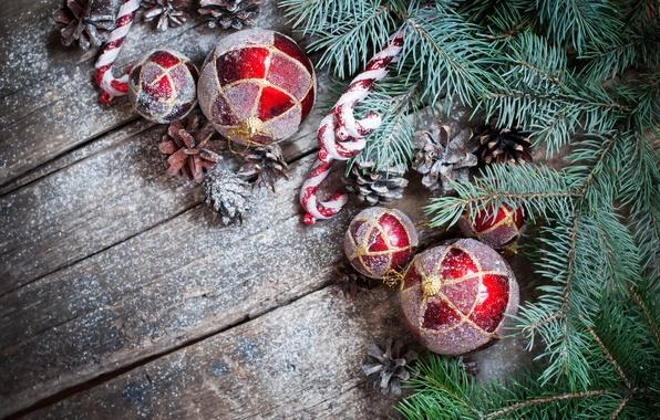 Картинка снег, украшения, игрушки, елка, Новый Год, Рождество, Christmas, snow, Xmas, decoration, Merry