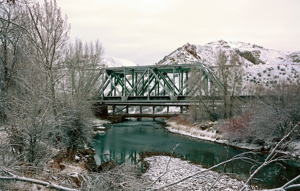 Картинка bridge, Spring, Morgan, creek, Utah