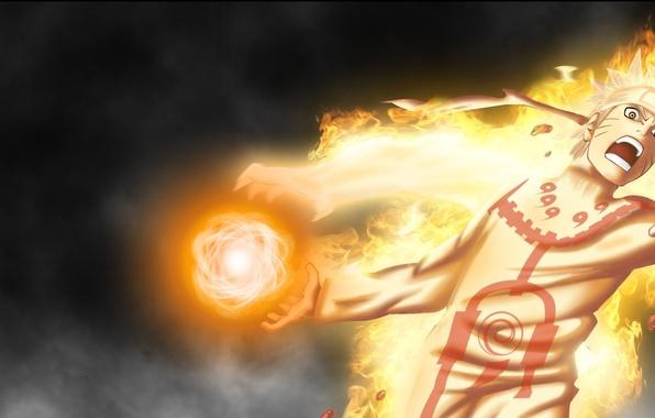 Картинка Naruto, Anime, Flame, Wallpaper, Ninja, Uzumaki, Naruto Shippuden, Blonde Hair, Manga, Bijuu Dama, Chakra, Bijuu ...