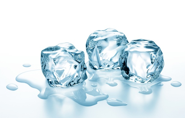 Картинка лед, вода, кубики льда