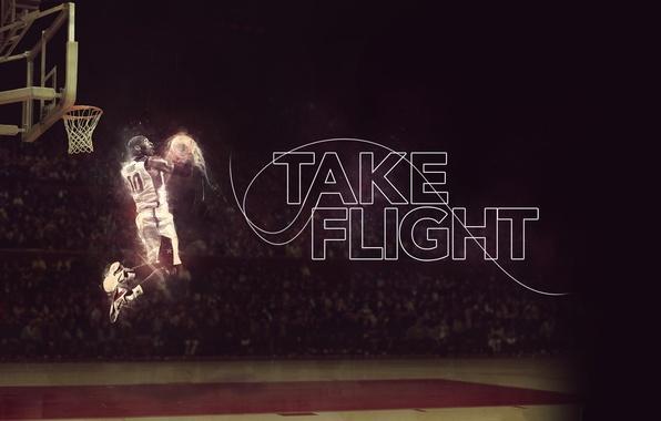 Картинка Поле, Баскетбол, Kobe Bryant, Slam Dunk, Зависание, Игрок, Take flight, Убегая