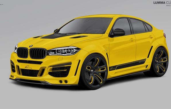 Картинка желтый, бмв, BMW, 2010, F16, Lumma Design, X6 M
