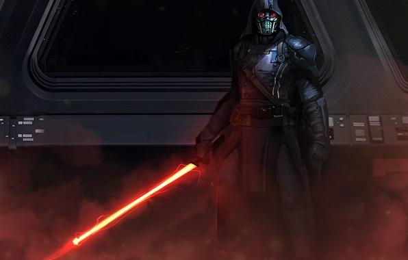 Картинка star wars, darth vader, fan art, lightsaber, sith