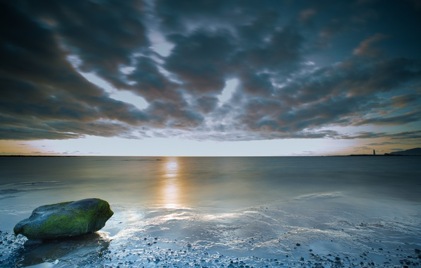 Картинка море, небо, тучи, Исландия, Iceland
