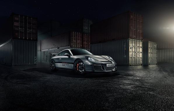 Картинка 911, Porsche, Stars, Front, GT3, Supercar, Ligth, Nigth, Russland