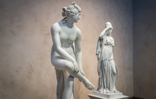 Картинка женщины, музей, скульптуры, Афина