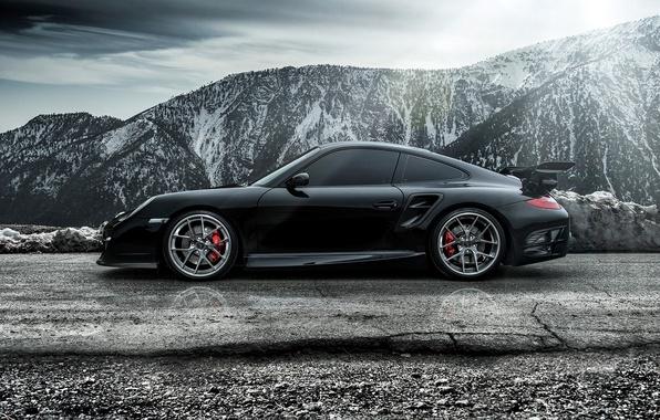 Картинка 911, Porsche, порше, сбоку, Carrera, Turbo, каррера, 2015