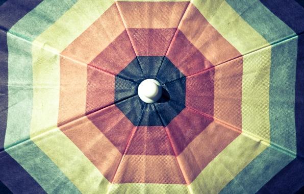 Картинка цвета, оранжевый, синий, желтый, красный, зеленый, зонт